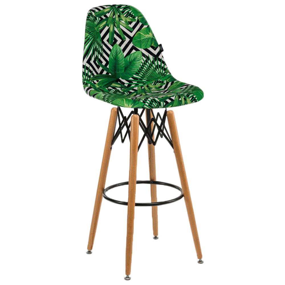 Стілець барний Tilia Eos-V сидіння з тканиною, ніжки букові VOKATO