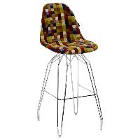 Стул барный Tilia Eos-M сиденье с тканью, ножки металлические хромированные COLOURBOX 7701, фото 1