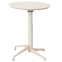 Стол с откидной столешницей Tilia Moon-S d70 см кремовий, фото 1