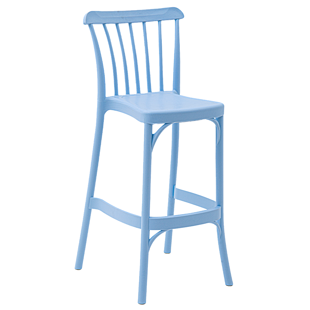 Стул барный Tilia Gozo 65 см светло-синий