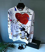 Свитшот в стиле Dolce & Gabbana / Турция размер(размер XL,XXL)