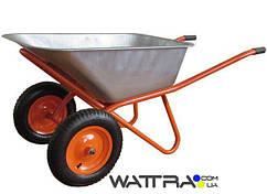 ⭐ Тачка строительная BUDFIX WB6404W двухколесная, объем вода / песок 90/170 л, грузопод-сть 200 кг