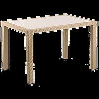 Стол Tilia Antares 80x120 см столешница из стекла, ножки пластиковые кофейный