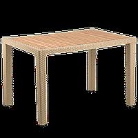Стол Tilia Antares 80x120 см столешница ироко, ножки пластиковые кофейный