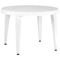 Стол Tilia Osaka d110 см ножки пластиковые белая слоновая кость, фото 1