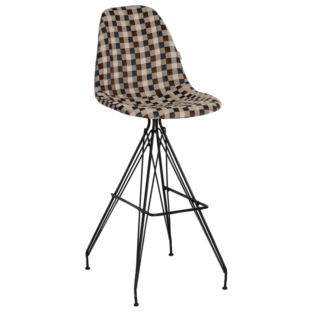 Стул барный Tilia Eos-X сиденье с тканью, ножки металлические крашеные ARTNUVO 46904 - V5