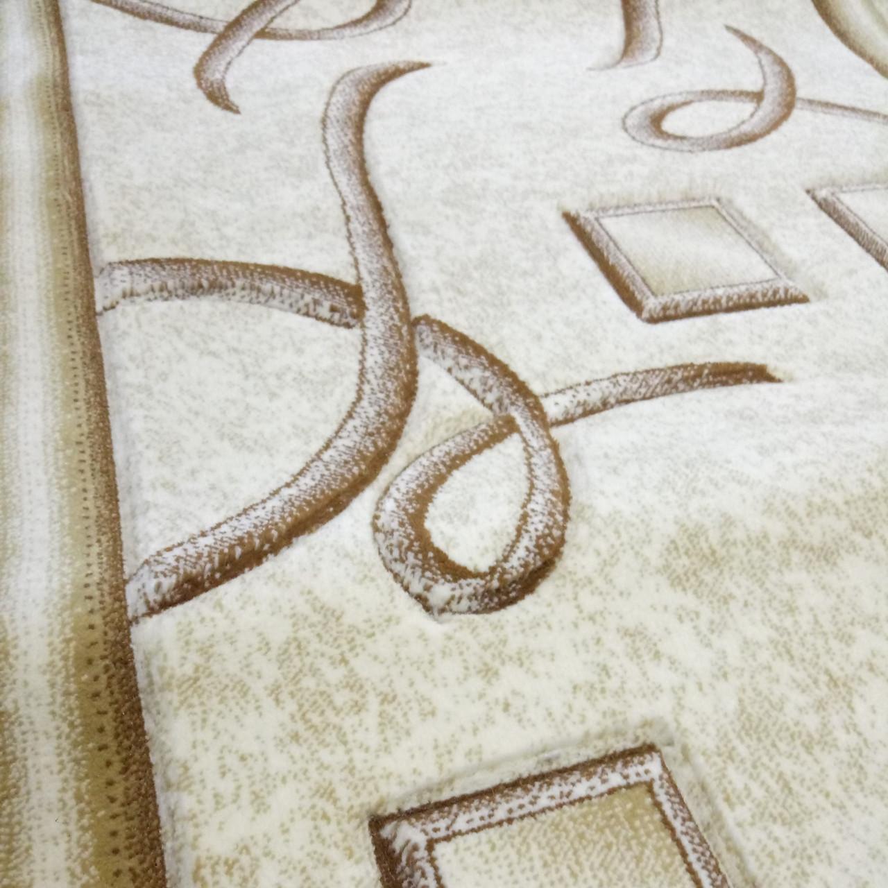 Дорожка ковровая Excellent D 0193A Cream ширина 1 м