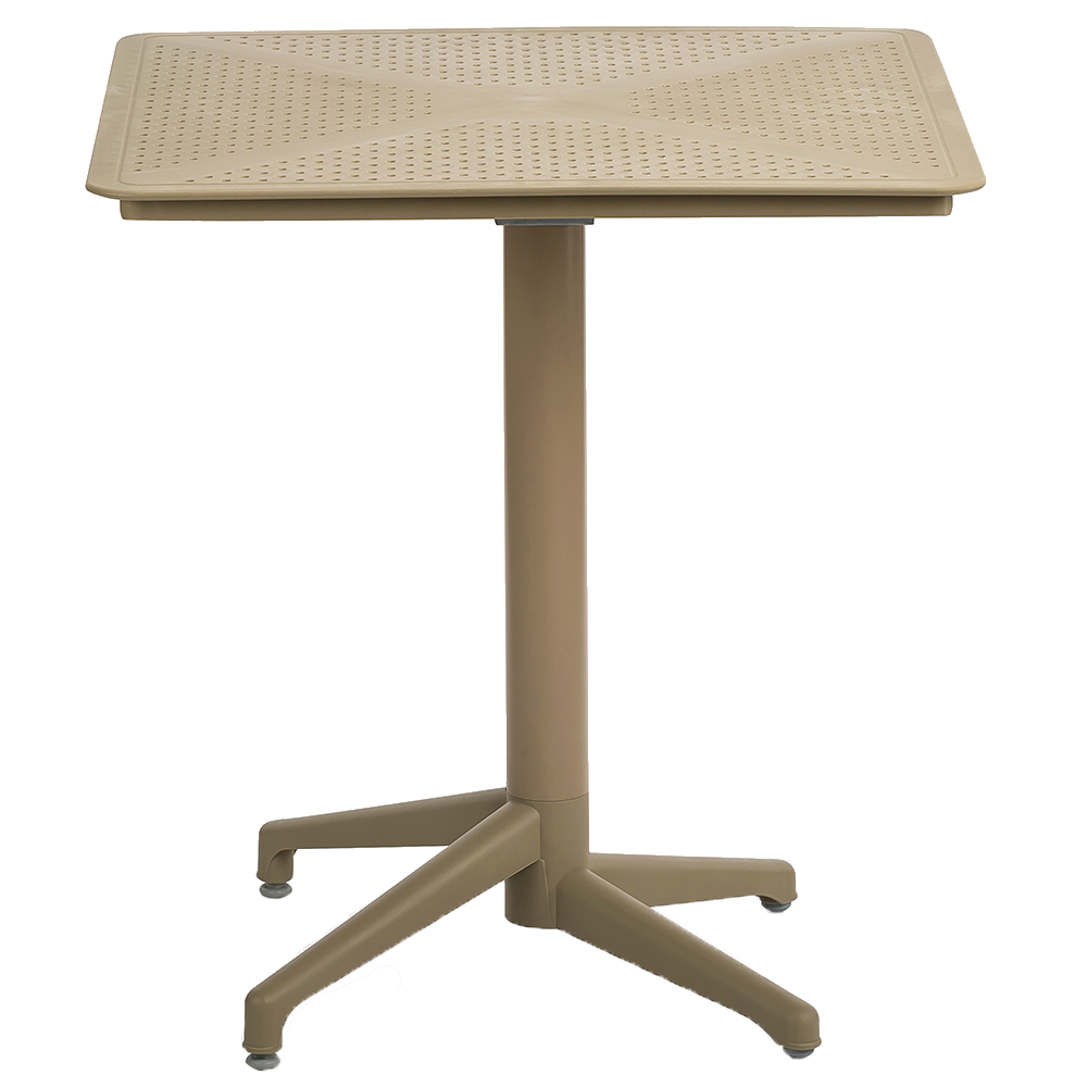 Стол с откидной столешницей Tilia Moon 70x70 см кремовый