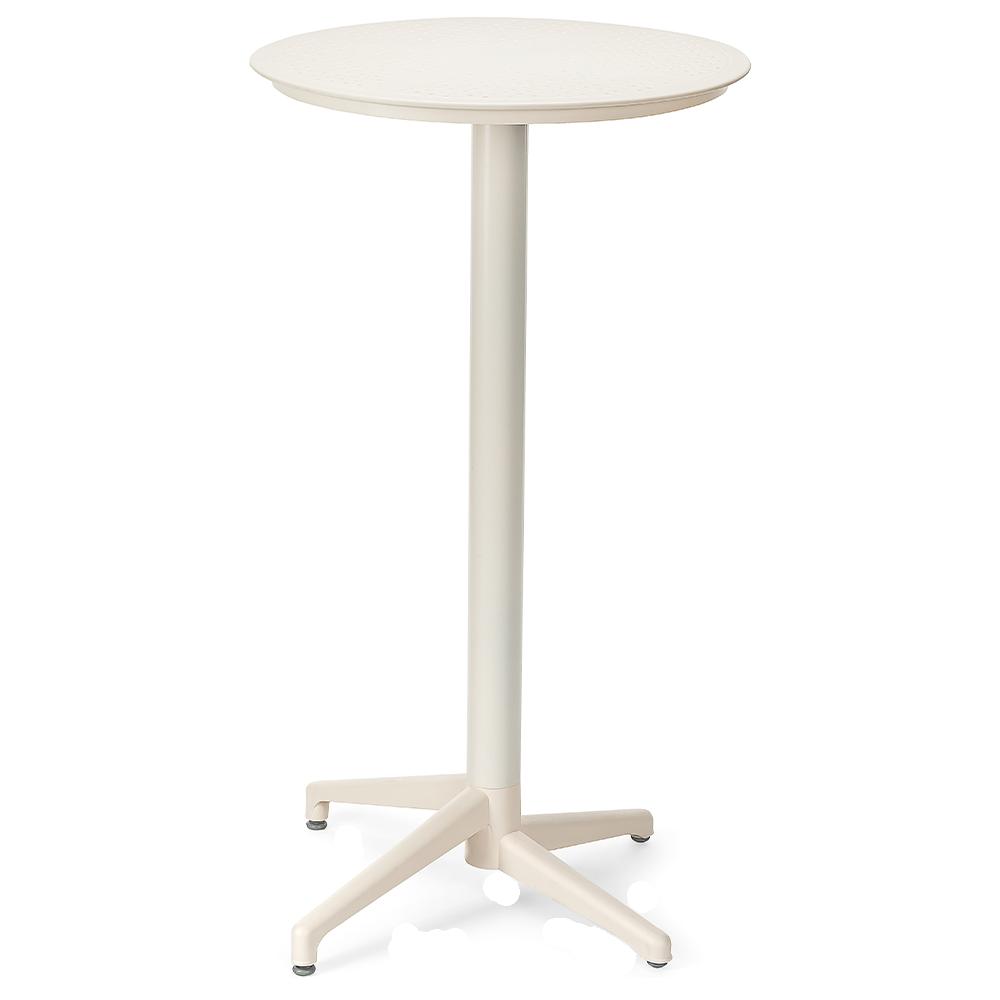 Стол барный Tilia Moon d60 см кремовый