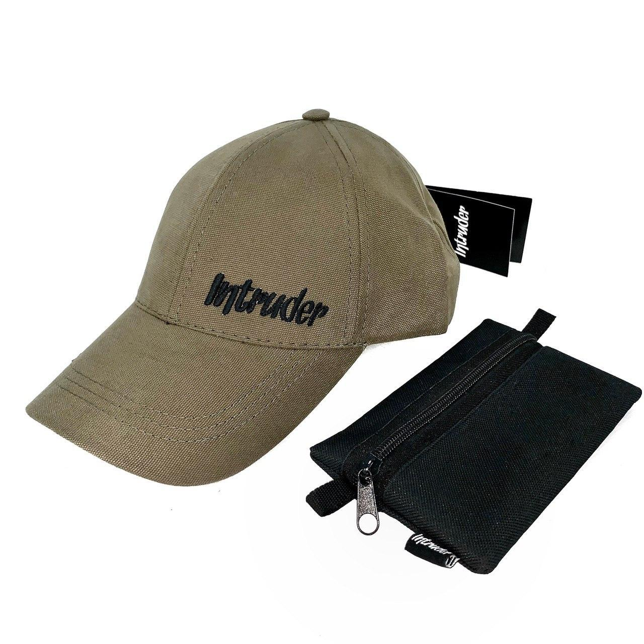 Кепка Intruder мужская | женская хаки брендовая small logo + Фирменный подарок