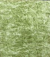 3д панель для декору стін Зелений Мармур (самоклеючі 3d декоративні панелі ПВХ) під цеглу 700x770x5 мм