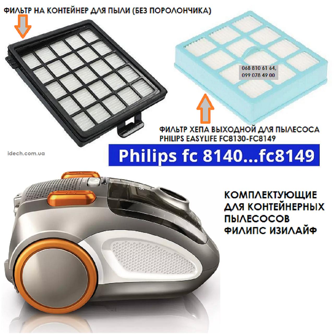 Фільтри Philips FC8070 01 і FC8071 01 для безмешковых пилососів