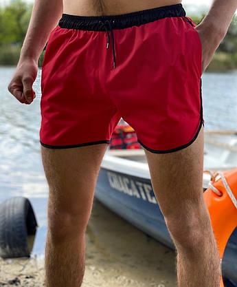 Купальные пляжные Шорты Intruder красные - черные, фото 2