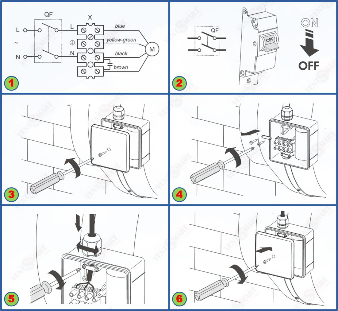 схема рабогы канального вентилятора