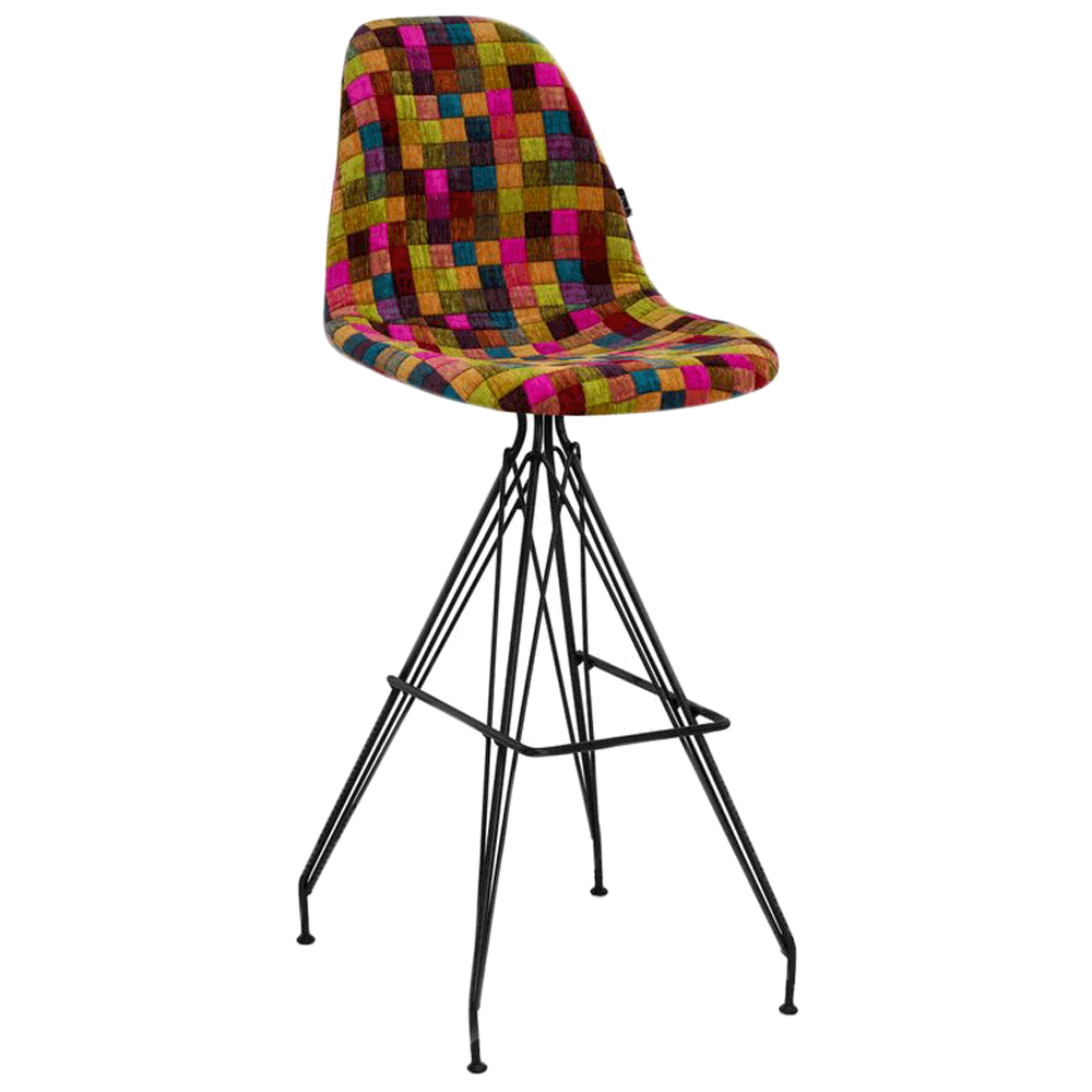 Стілець барний Tilia Eos-X сидіння з тканиною, ніжки металеві фарбовані COLOURBOX 7700