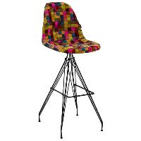 Стілець барний Tilia Eos-X сидіння з тканиною, ніжки металеві фарбовані COLOURBOX 7700, фото 1