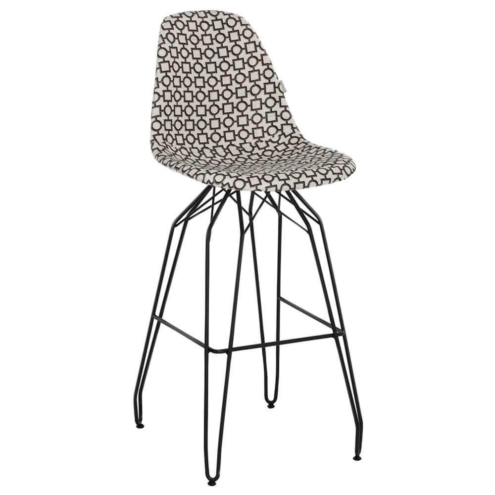 Стул барный Tilia Eos-M сиденье с тканью, ножки металлические крашеные ARTCLASS 802