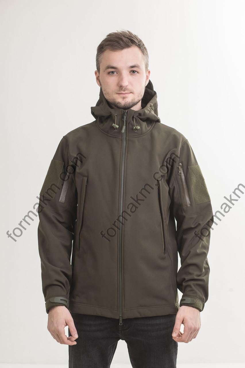 Куртка тактическая демисезонная SoftShell хаки