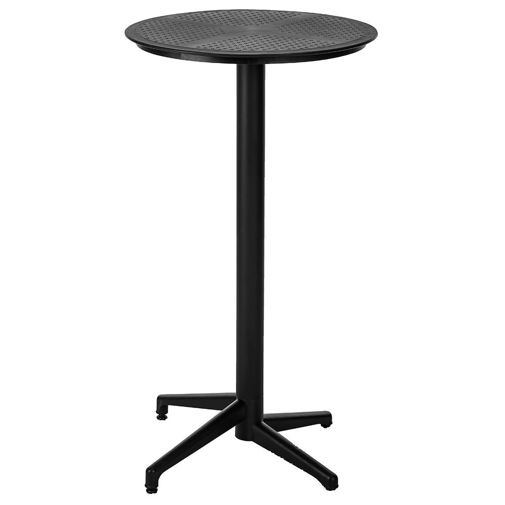Стол барный с откидной столешницей Tilia Moon d60 см черный