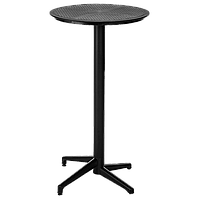Стол барный с откидной столешницей Tilia Moon d60 см черный, фото 1