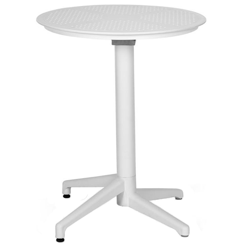 Стол с откидной столешницей Tilia Moon-S d70 см белая слоновая кость