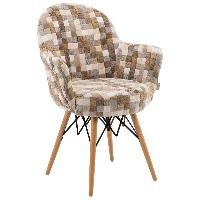 Кресло Tilia Gora-V ножки буковые, сиденье с тканью COLOURBOX 7801, фото 1