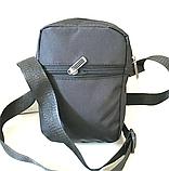 Спортивные барсетки на плечо текстиль (В ЧЕРНОМ)14*18см, фото 3