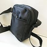 Спортивные барсетки на плечо текстиль (В ЧЕРНОМ)14*18см, фото 2