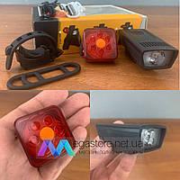 Светодиодный велофонарь BSK-1803-2 фонарь для велосипеда на велосипед фара велофара с аккумулятором фонарик