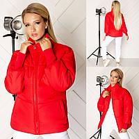 "Стильна жіноча куртка, тканина плащівка ""канада"", рукави-тканина кашкорсе, синтепон 200 (42-46)"
