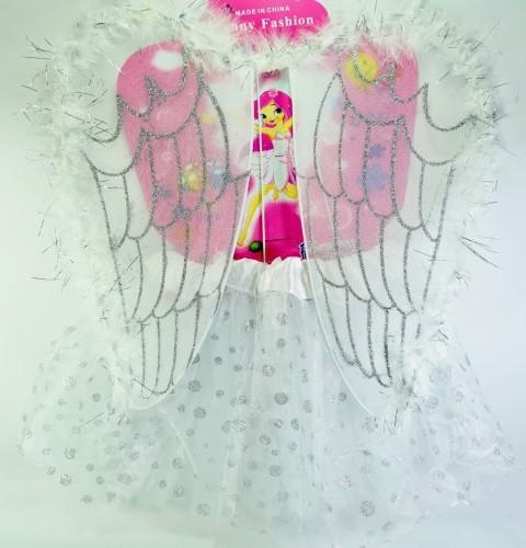 Костюм Белый ангел для девочки (юбка, крылья)