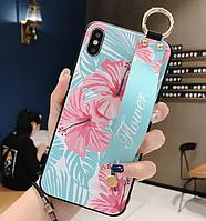 Чехол Flower Rope Case для iPhone X, Xs Blue (айфон икс, икс ес)