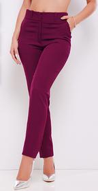 Брюки женские из костюмной ткани баклажановый 44 размер