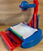 Детский проектор для рисования с подсветкой арт. YM888, 24 слайда, фломастеры, блокнот