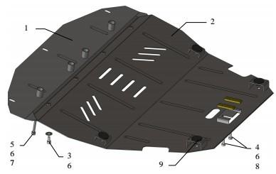 Захист двигуна Fiat Scudo 1995-2007