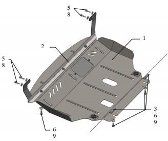 Захист двигуна Ford B-Max 2013-
