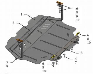 Защита двигателя Volkswagen Golf -5 2003-2008