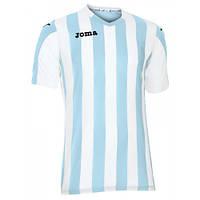 Футболка футбольная Joma COPA бело-голубая 100001.352