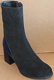 Сапожки женские замшевые большого размера от производителя модель БР211, фото 2