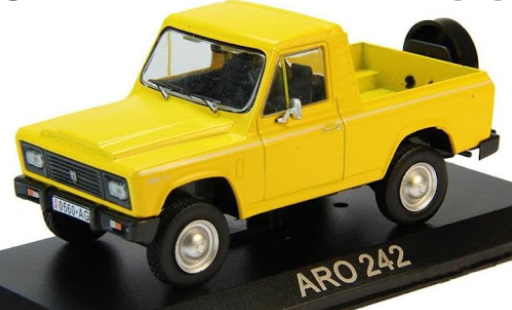 Автолегенды №177 ARO 242 pick-up (Румыния) желтый | Коллекционная модель 1:43 | DeAgostini