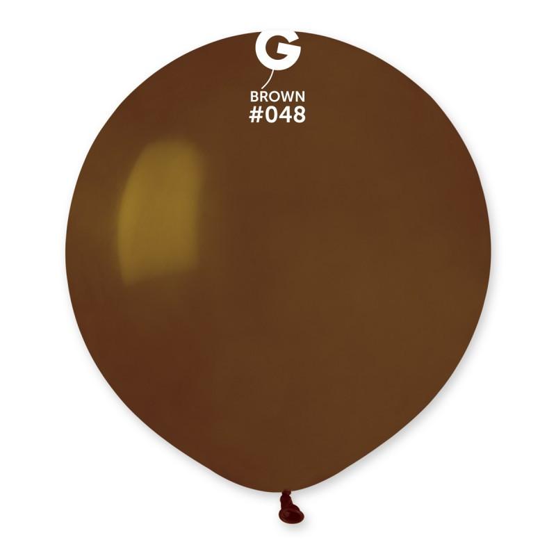 """Шар 31"""" (80 см) Gemar пастель 48 коричневый (Джемар)"""