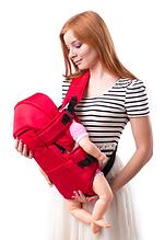 Рюкзак переноска кенгуру, 3 положення, від 2 місяців до 13 кг, для немовлят Умка Червоний