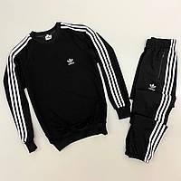 Спортивный костюм мужской, женский Adidas Black - Адидас Черный