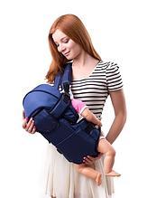 Рюкзак переноска кенгуру, 3 положения, от 2 месяцев до 13 кг, для младенцев Умка Синий