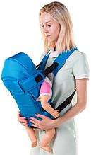 Рюкзак переноска кенгуру, 3 положення, від 2 місяців до 13 кг, для немовлят Умка Блакитний