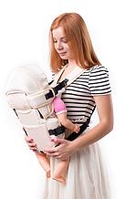 Рюкзак переноска кенгуру, 3 положения, от 2 месяцев до 13 кг, для младенцев Умка Бежевый