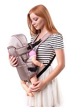 Рюкзак переноска кенгуру, 3 положения, от 2 месяцев до 13 кг, для младенцев Умка Кофе с молоком
