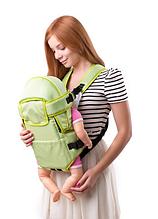 Рюкзак переноска кенгуру, 3 положения, от 2 месяцев до 13 кг, для младенцев Умка Салатовый