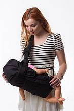 Рюкзак переноска кенгуру, 3 положення, від 2 місяців до 13 кг, для немовлят Умка Чорний