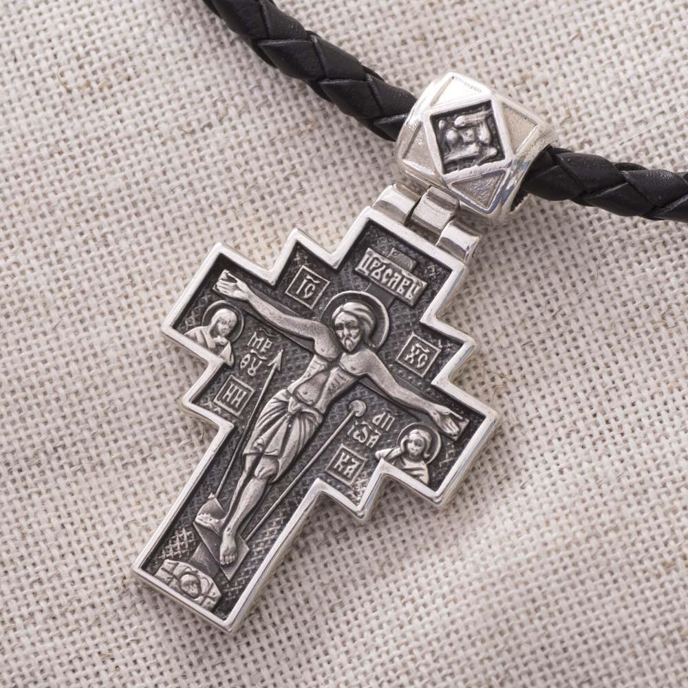 Серебряный православный крест GS с чернением